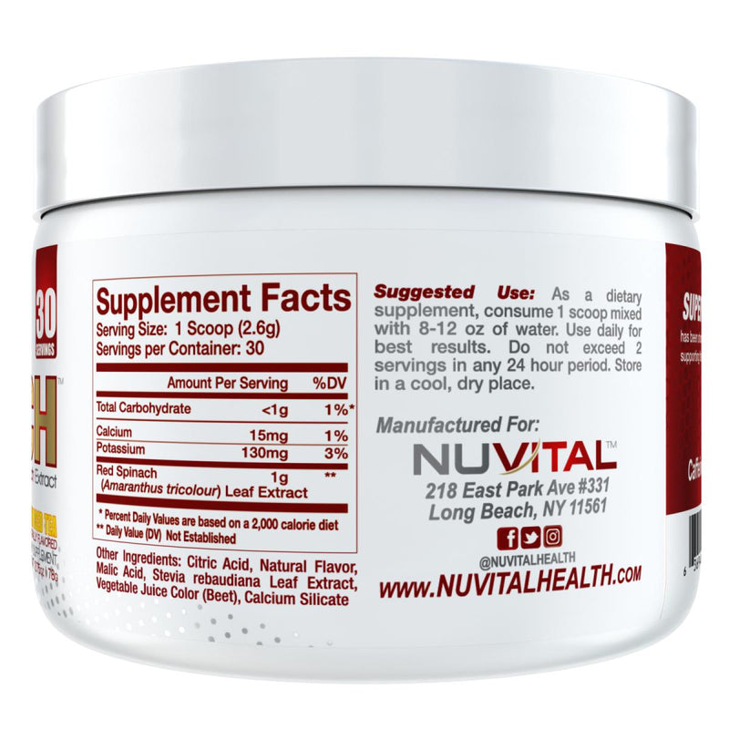 Nuvital Super Spinach Supplement Facts
