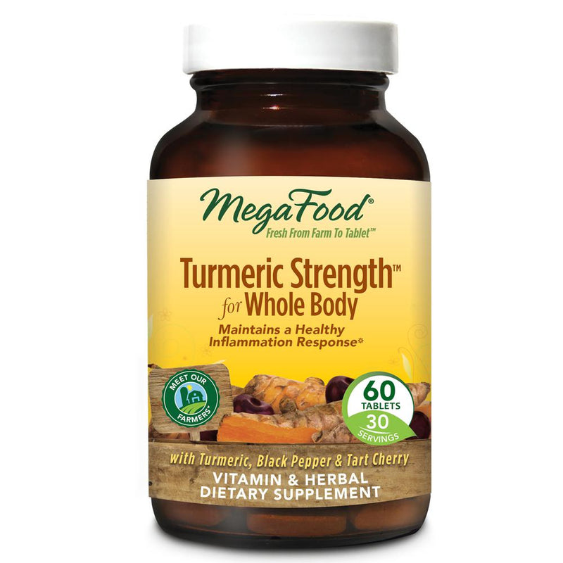 MegaFood Turmeric Strength for Whole Body 60 Tablets
