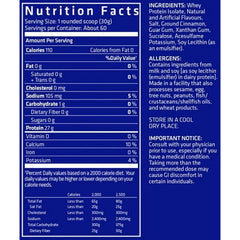 USN Zero Carb Iso Pro Nutrition Facts