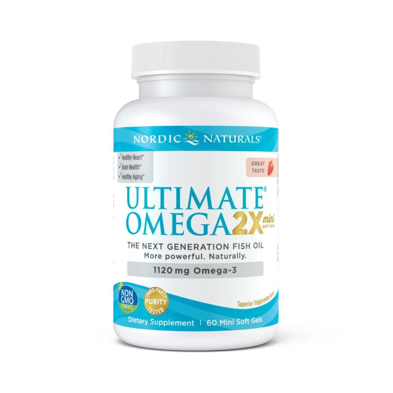 Nordic Naturals Ultimate Omega 2x 1120mg 60 Mini Soft Gels
