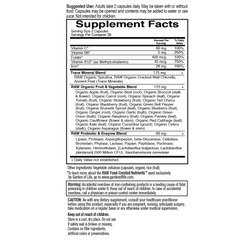 Garden of Life Vitamin Code Healthy Blood 60VC Supplement Facts
