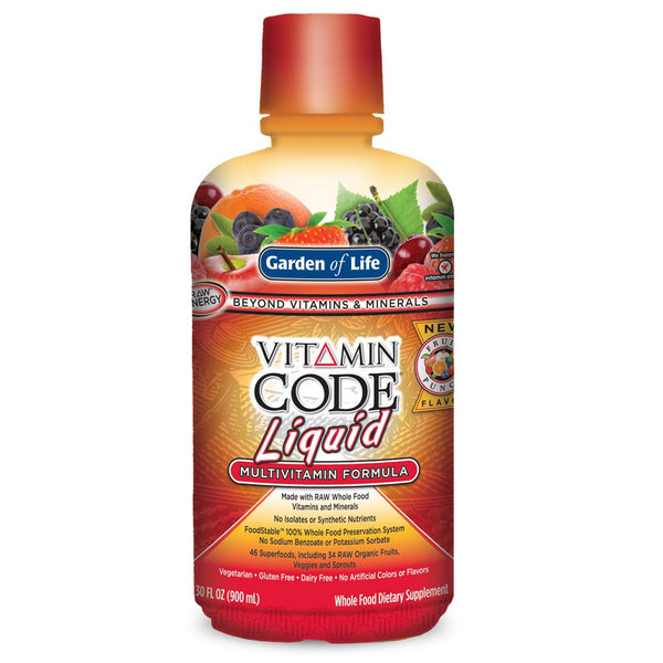 Garden of Life Vitamin Code Liquid Multivitamin 30oz Fruit Punch