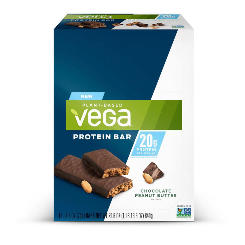 Vega 20g Protein Bar Box of 12 Chocolate Peanut Butter