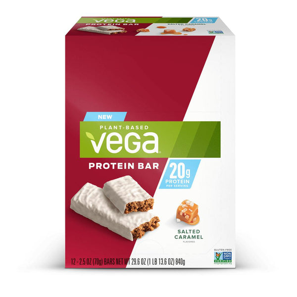 Vega 20g Protein Bar Box of 12 Salted Caramel
