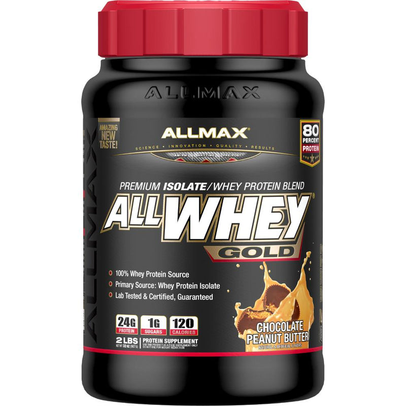 Allmax Nutrition AllWhey Gold 2lb Chocolate Peanut Butter