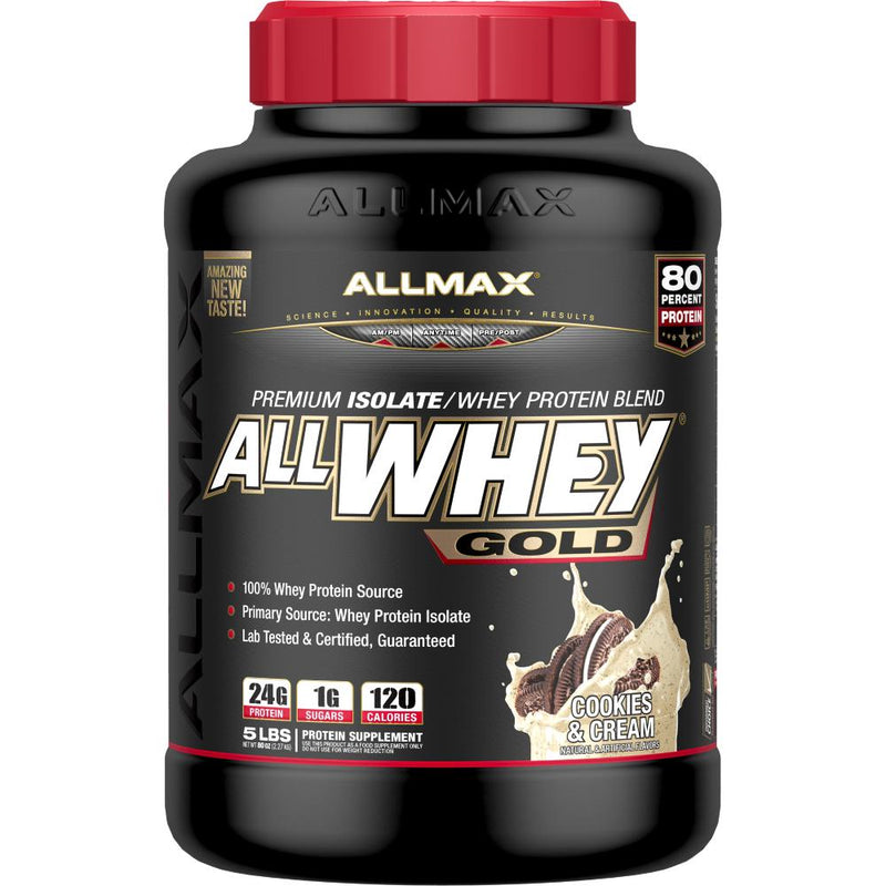 Allmax Nutrition AllWhey Gold 5lb Cookies & Cream