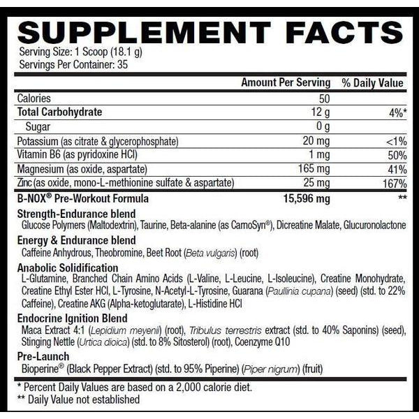 Betancourt Nutrition B-Nox 35 Servings