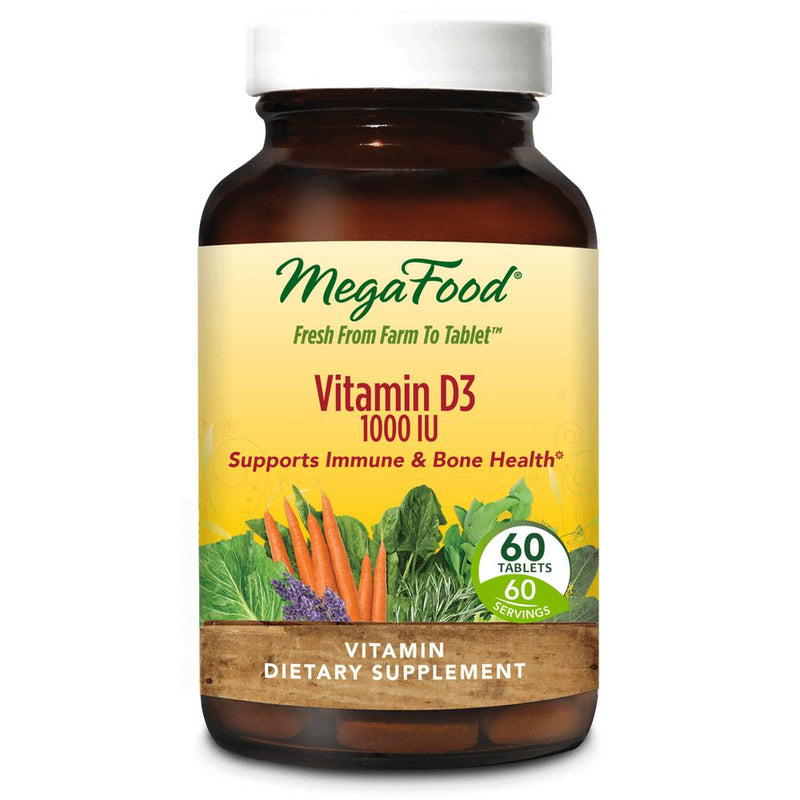MegaFood Vitamin D3 1000IU 60 Tablets