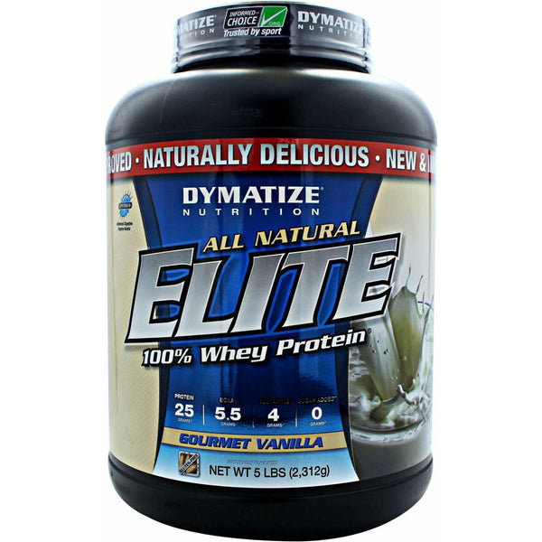 Dymatize All Natural Elite Whey Protein 5lb (Gluten Free)
