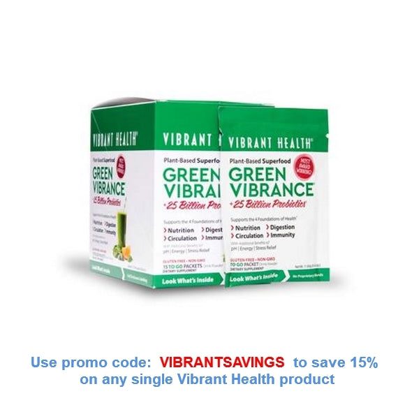Vibrant Health Green Vibrance 15 Serving Packets Discount