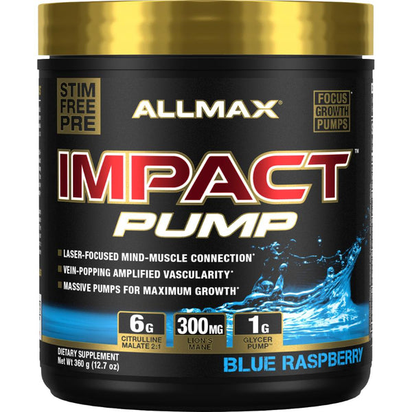 Allmax Nutrition Impact Pump 20 servings Blue Raspberry