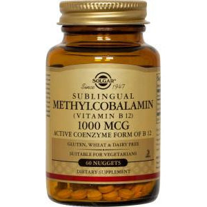Solgar B12 1000mcg 60T Nuggets (Methylcobalamin)