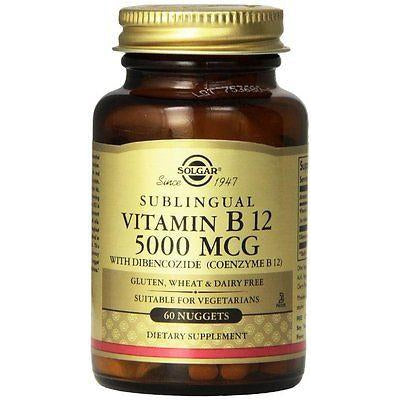 Solgar B12 5000mcg 60T Nuggets (Methylcobalamin)