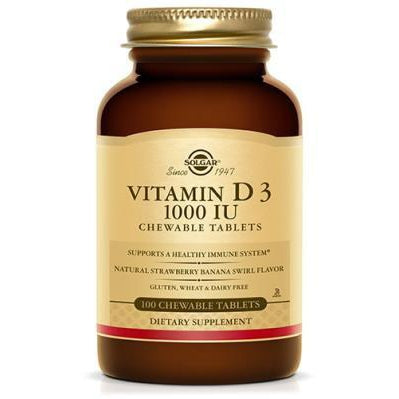 Solgar Vitamin D3 Chewable 100T (Strawberry Banana Swirl)