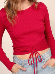 Red Alexy Knit Top