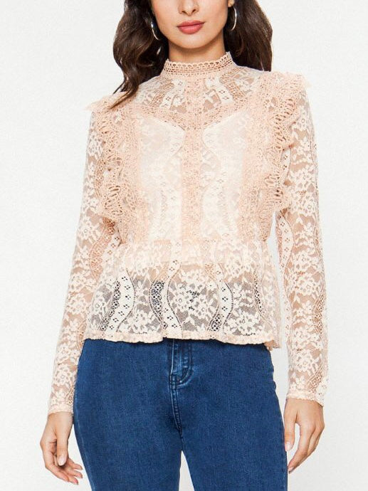 Semi Sheer Lace Top