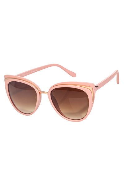 Pink Oversized Cat Eye Sunglasses