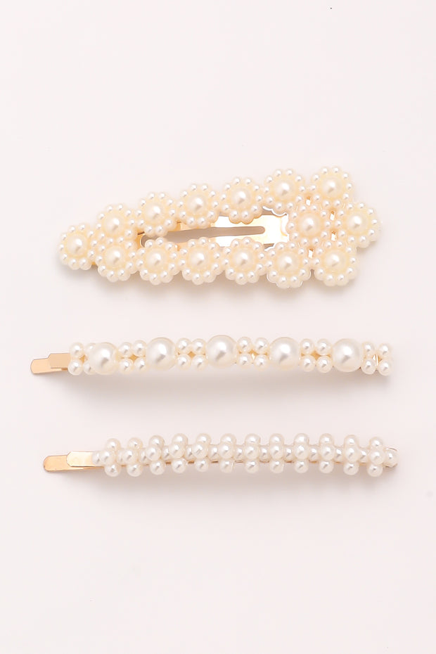 Multi Pearl Hair Pin Set