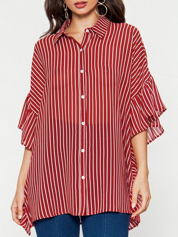 Stripe Print Top