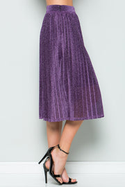 Sparkly Pleated Midi Skirt