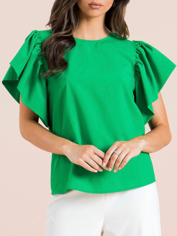 Green Grace Woven Top