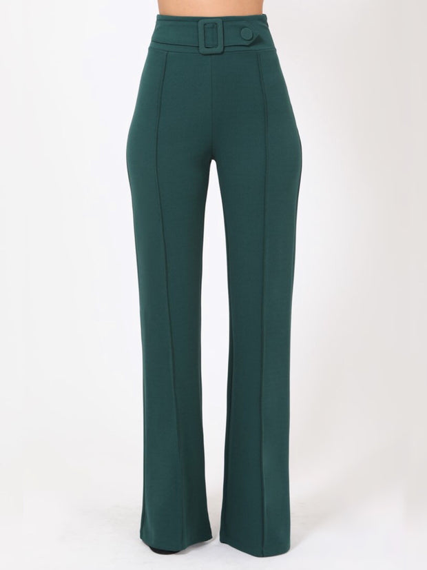 Green Rectangle Buckle & Button Bottoms