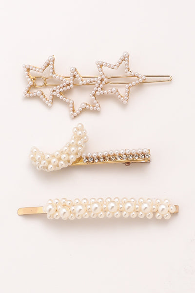 Star Pearl Hair Pin Set