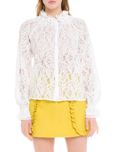 Estela Lace Ruffle Top