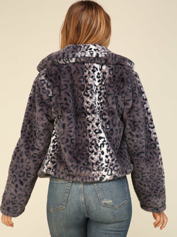 Long Sleeve Leopard Jacket