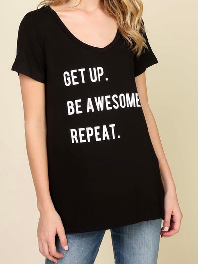 Get Up Be Awesome Repeat Top