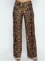 Leopard Palazzo Bottoms