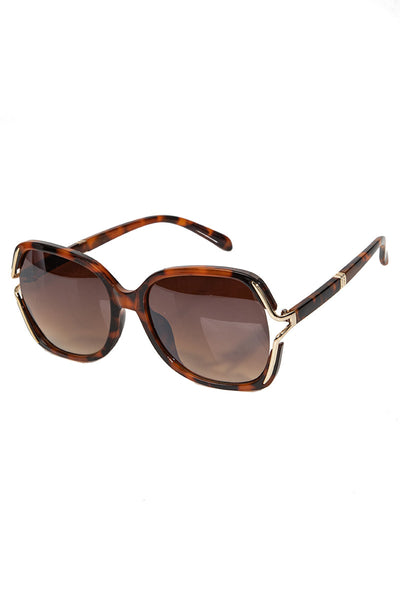 Brown Oversized Fashion Sunglasses
