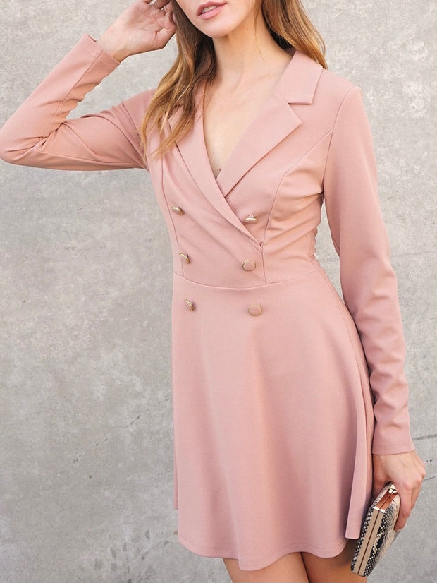 Mia ButtonBlazer Dress
