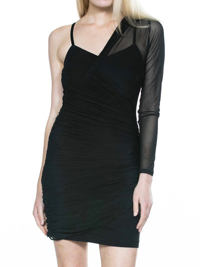 One Shoulder Sheer Dress