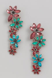 Marquise Flower Drop Earrings