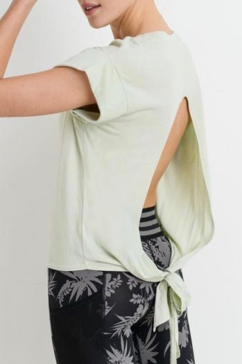 Tie Back Cut-Out Shirt