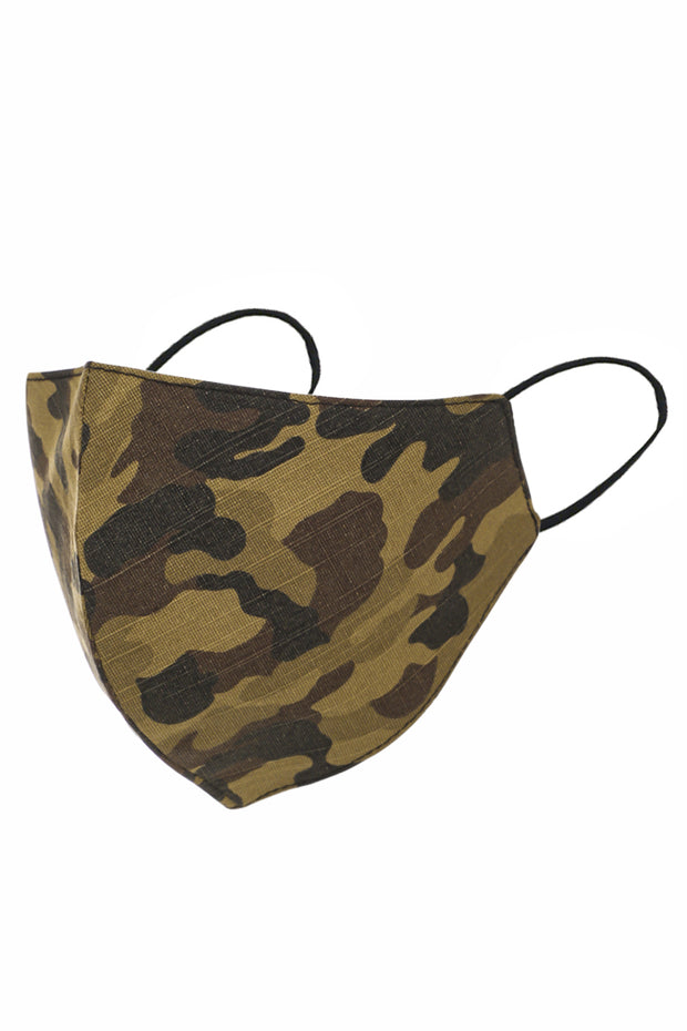 Camo Print Adult Face Mask