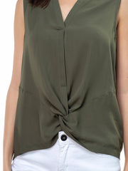 Front Twist Sleeveless Top