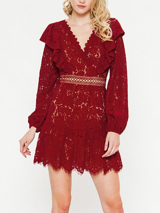 Lucy Woven Lace Dress