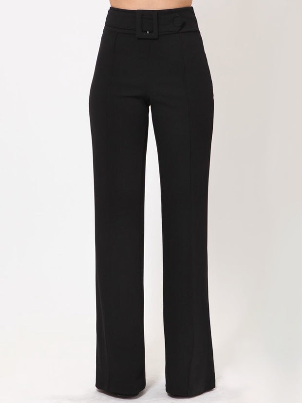 Black Rectangle Buckle & Button Bottoms