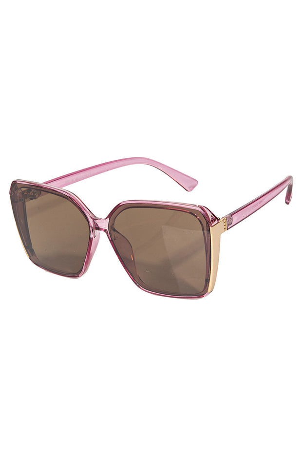 Purple Oversized Acetate Square Sunglasses