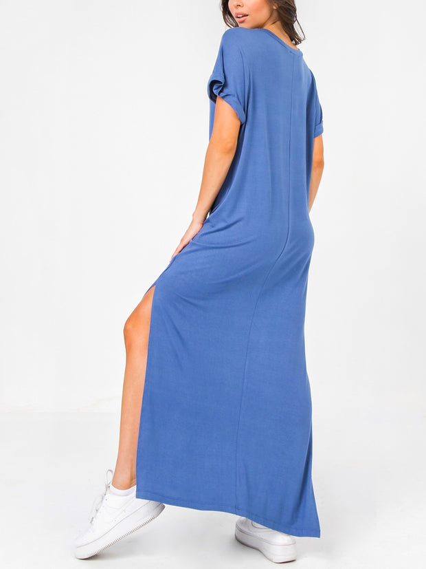 Blue Rossana Long Dress