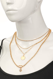 Multi Strand Assorted Chain Necklace