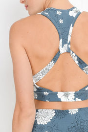 Flying V Blue Poppy Sports Bra