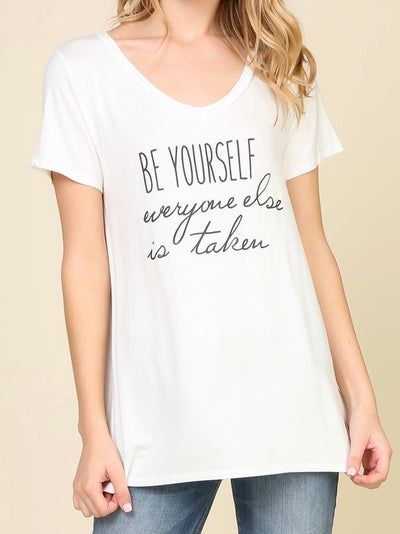 Be Yourself Graphic Tee Top