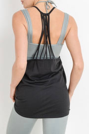 Waterfall Back Longline Muscle Tank