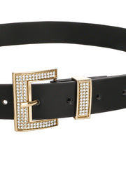 Rhinestone Studded Buckle Fashion Belt