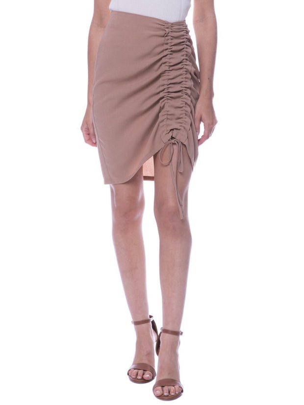 Leonor Camel Skirt