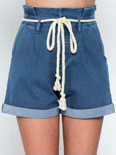 Indigo Paper Bag Short Bottom