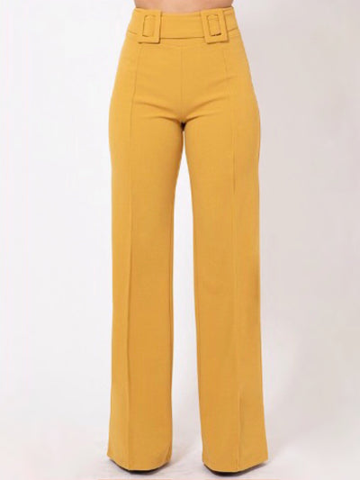 Mustard Double Buckle Bottoms